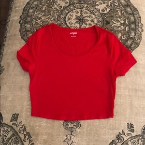 Express Cropped Scoop Neck Tee. Size S